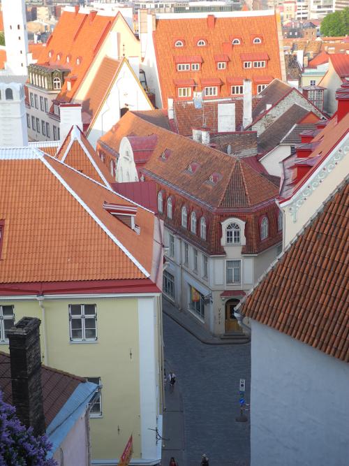 Hausfassaden im historischen Reval.