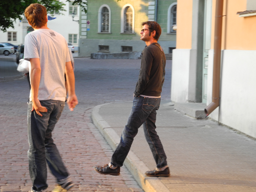 Beim Sightseeing in Tallinn