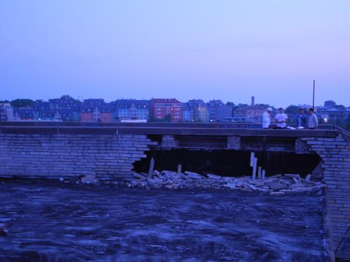 Linnhall, Tallinn auf dem Dach