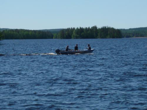 Bootfahren auf dem Kallavesi bei Kuopio.