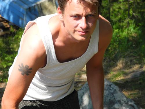 Martin auf einer Insel bei Kuopio.