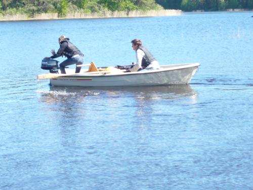 Katja und Martin im Boot.
